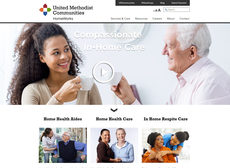 United Methodist Communities Homeworks Win Marketing